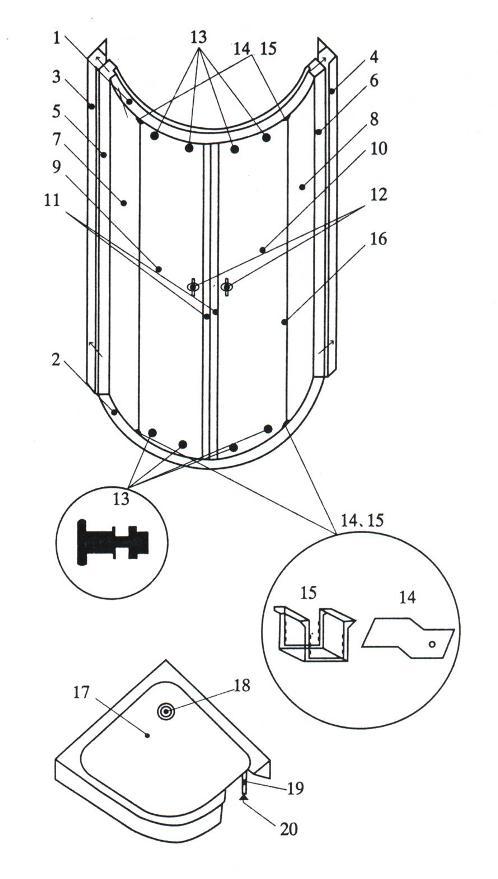 инструкция по монтажу и эксплуатации душевой кабины - фото 10